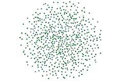 Предпосылка с зеленым ярким блеском, confetti Случайно, хаотические точки польки, круги, круглый мелкомасштабный праздничный диза бесплатная иллюстрация
