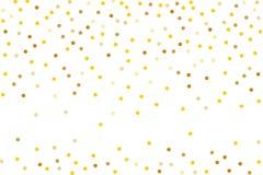 Предпосылка с золотым ярким блеском, confetti Точки польки золота, круги, круглые Типографская конструкция Яркое праздничное, кар бесплатная иллюстрация