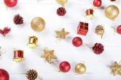 Предпосылка с игрушками для рождественской открытки Стоковое Изображение RF