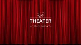 Предпосылка с красными занавесами театра закрыла иллюстрация вектора