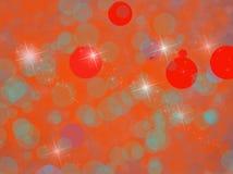 Предпосылка с красными и голубыми кругами Стоковая Фотография RF