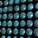 Предпосылка с круглой драгоценной камнем. Topaz сини неба. Grandidierite Стоковое Фото
