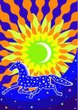 Предпосылка с лошадью звезды Стоковая Фотография RF