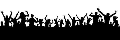 Предпосылка с людьми толпы Стоковое Изображение RF