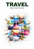 Предпосылка с много фото от каникул от различных частей o Стоковые Фотографии RF
