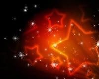 Предпосылка с накаляя звездами иллюстрация вектора