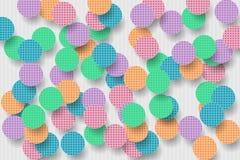 Предпосылка с округлыми формами цвета стоковая фотография