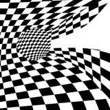 Предпосылка с передернутой шахматной доской иллюстрация вектора