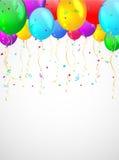 Предпосылка с пестроткаными воздушными шарами. Стоковые Изображения RF