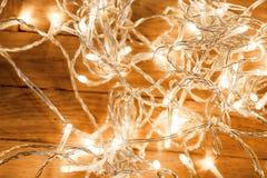 Предпосылка с праздничным украшением - накалять рождества рождества Стоковая Фотография RF