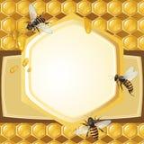 Предпосылка с пчелами Стоковые Изображения RF