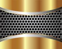 Предпосылка с решеткой 2 металла иллюстрация штока