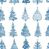 Предпосылка с рождественскими елками aa Стоковые Фотографии RF