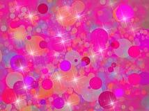 Предпосылка с розовыми кругами 1 Стоковое Изображение