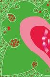 Предпосылка с сердцами для приветствий Валентайн Стоковые Изображения
