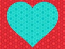 Предпосылка с сердцем Стоковые Фотографии RF