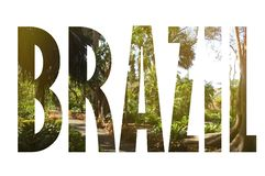 Предпосылка с словом Бразилией Письма были сделаны от предпосылок Стоковые Фото