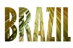 Предпосылка с словом Бразилией Письма были сделаны от предпосылок Стоковое Изображение