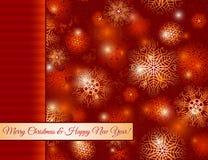 Предпосылка с снежинками, вектор рождества красная бесплатная иллюстрация