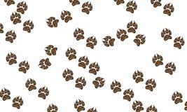 Предпосылка с собачьими печатями Стоковое Изображение