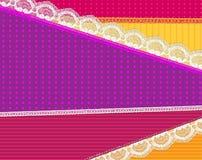 Предпосылка с тканью и яркий вектор шнурка конструируют иллюстрация штока
