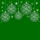 Предпосылка с шариками рождества Стоковое Изображение RF