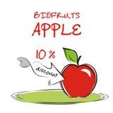 Предпосылка с яблоком. Иллюстрация вектора