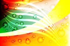 Предпосылка с яркими световыми эффектами цветов, иллюстрация абстрактного вектора пестротканая волнистая затеняемая вектора Стоковая Фотография RF