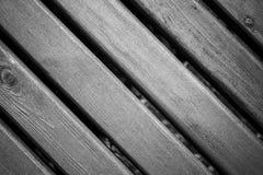 Предпосылка текстуры деревянной планки черно-белая Стоковое Фото