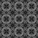 Предпосылка текстуры калейдоскопа мозаики безшовная - черная серая серая шкала с белым grout иллюстрация штока