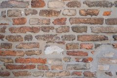 Предпосылка текстуры каменной стены безшовного ashlar старая стоковое фото
