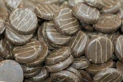 Предпосылка текстуры печений обломока шоколада Предпосылка печенья шоколада Стоковые Изображения
