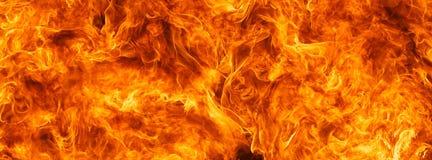 Предпосылка текстуры пламени пожара Blaze Стоковая Фотография