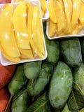 Предпосылка текстуры плодоовощ манго Стоковые Фото