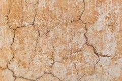 Предпосылка текстуры стены глины самана Брайна Стоковые Изображения
