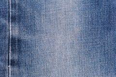 Предпосылка текстуры ткани джинсов джинсовой ткани с швом для одежды, дизайна моды и концепции индустриального строительства стоковые фотографии rf