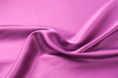 Предпосылка текстуры ткани Красная silk ткань Часть d Стоковая Фотография