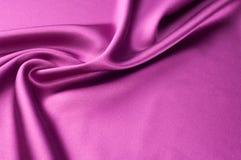 Предпосылка текстуры ткани Красная silk ткань Часть d Стоковое Изображение RF