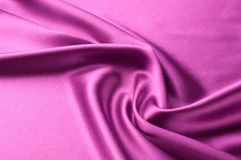 Предпосылка текстуры ткани Красная silk ткань Часть d Стоковое Фото