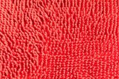 Предпосылка текстуры цвета шарлаха хлопко-бумажной ткани красная с космосом экземпляра добавляет текст Стоковые Изображения