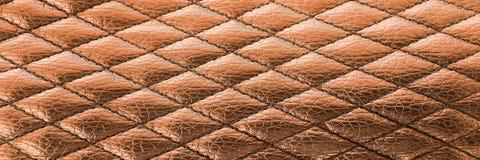 Предпосылка текстуры шва черная кожаная Органическая кожаная предпосылка Черная естественная кожаная текстура Стоковые Изображения