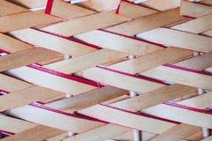 Предпосылка текстуры weave корзины бамбуковая Стоковое Изображение