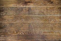 Предпосылка темного дуба деревянная Стоковые Фотографии RF