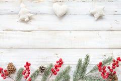 Предпосылка темы рождества с украшать стоковое изображение