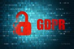 Предпосылка технологии безопасности EC Европейского союза общей защиты данных регулированная GDPR Стоковое Изображение