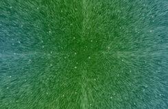 Предпосылка технологии с зелеными квадратами, кубами и светами Стоковое Изображение