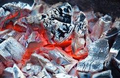 Предпосылка тлея угля Стоковые Изображения RF