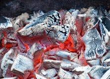 Предпосылка тлея угля Стоковое Изображение
