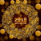 Предпосылка 2018 торжества Нового Года Стоковые Изображения