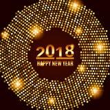 Предпосылка 2018 торжества Нового Года Стоковая Фотография